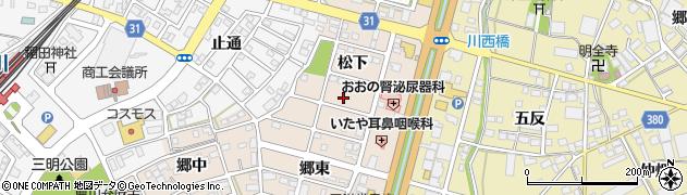 愛知県豊川市馬場町(松下)周辺の地図