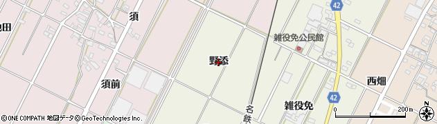 愛知県西尾市吉良町上横須賀(野添)周辺の地図