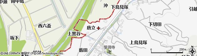 愛知県豊橋市石巻小野田町(唐立)周辺の地図