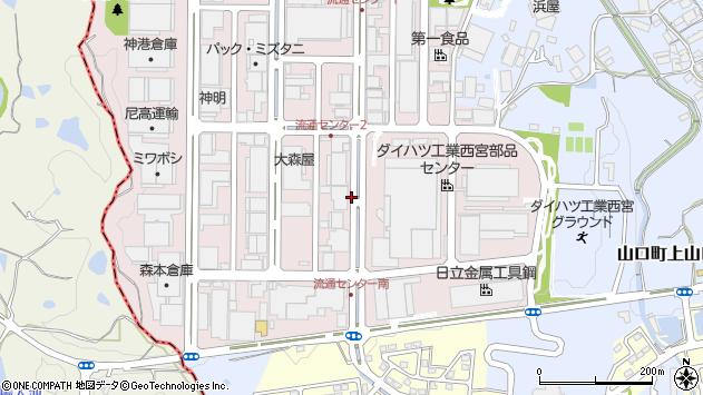 〒651-1431 兵庫県西宮市山口町阪神流通センターの地図