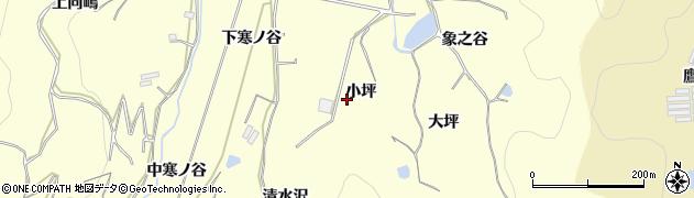 愛知県豊橋市石巻平野町(小坪)周辺の地図