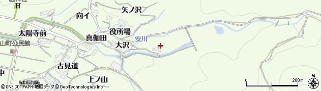 愛知県豊橋市石巻中山町(大沢)周辺の地図
