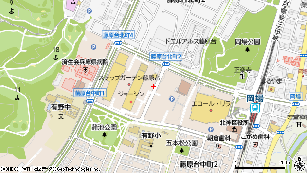 〒651-1302 兵庫県神戸市北区藤原台中町の地図