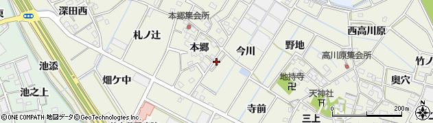 愛知県豊川市三上町(兼帯)周辺の地図