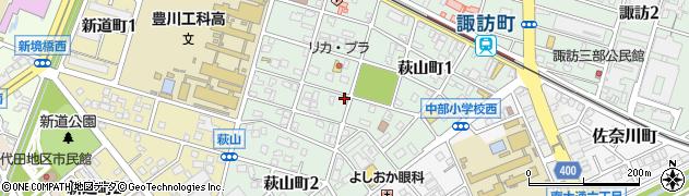 愛知県豊川市萩山町周辺の地図