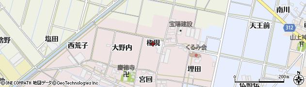 愛知県西尾市一色町池田(権現)周辺の地図