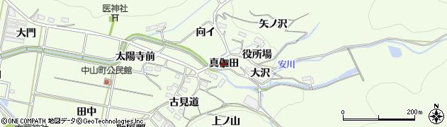 愛知県豊橋市石巻中山町(真伽田)周辺の地図