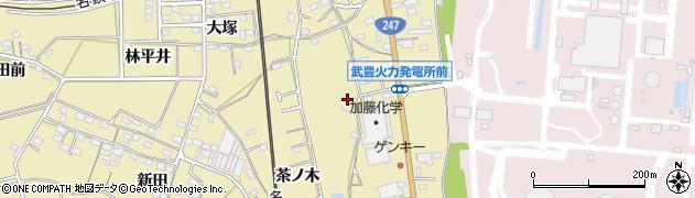 愛知県武豊町(知多郡)冨貴(篭田)周辺の地図