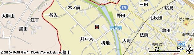 愛知県蒲郡市拾石町(岡)周辺の地図