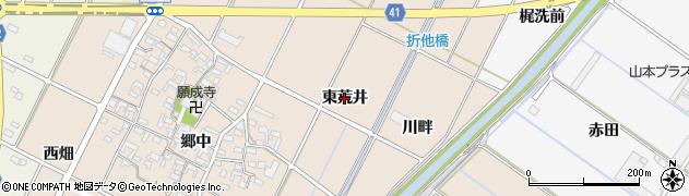 愛知県西尾市吉良町中野(東荒井)周辺の地図