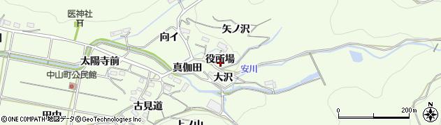 愛知県豊橋市石巻中山町(役所場)周辺の地図