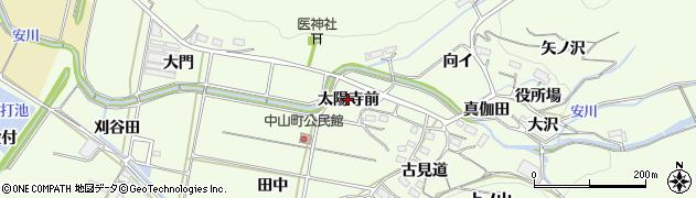 愛知県豊橋市石巻中山町(太陽寺前)周辺の地図