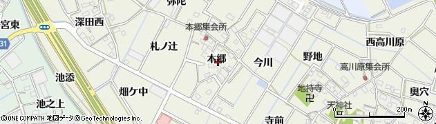 愛知県豊川市三上町(本郷)周辺の地図