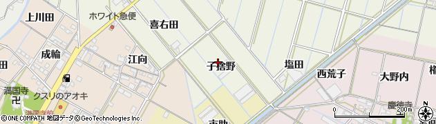 愛知県西尾市八ケ尻町(子捨野)周辺の地図