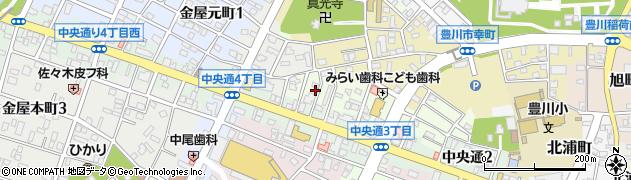 愛知県豊川市若宮町周辺の地図