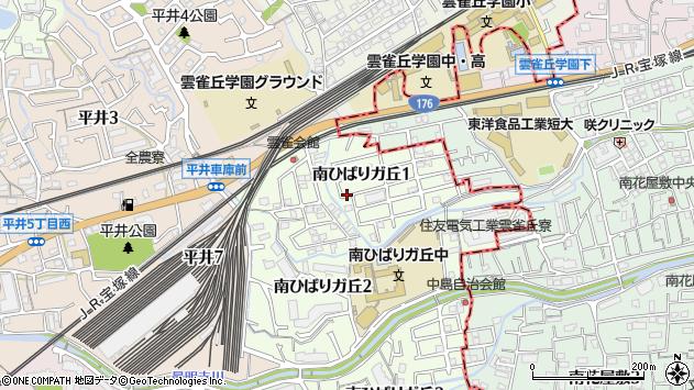 〒665-0811 兵庫県宝塚市南ひばりガ丘の地図
