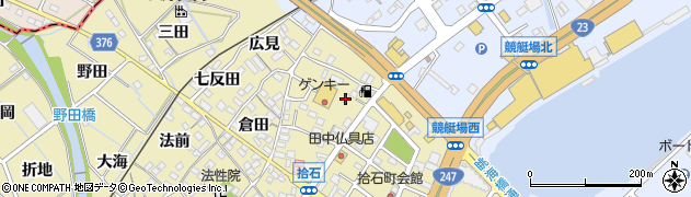 愛知県蒲郡市拾石町(縄手添)周辺の地図