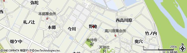 愛知県豊川市三上町(野地)周辺の地図