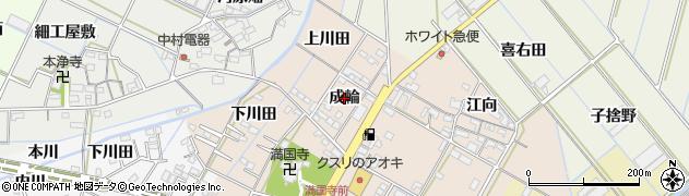 愛知県西尾市一色町味浜(成輪)周辺の地図