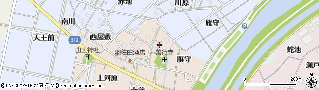 愛知県西尾市笹曽根町(東屋敷)周辺の地図