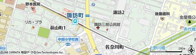 シンセリティー周辺の地図
