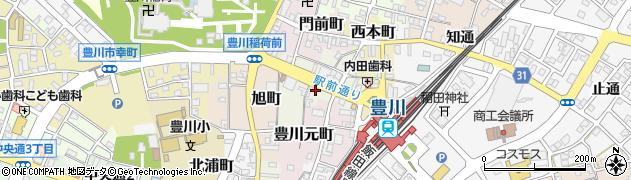 愛知県豊川市豊川栄町周辺の地図