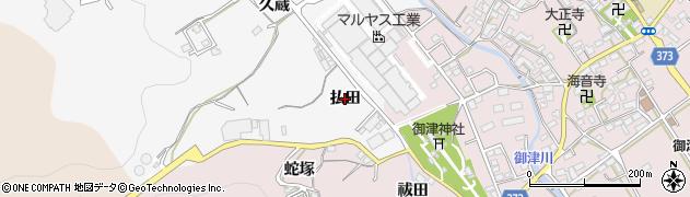 愛知県豊川市御津町豊沢(払田)周辺の地図