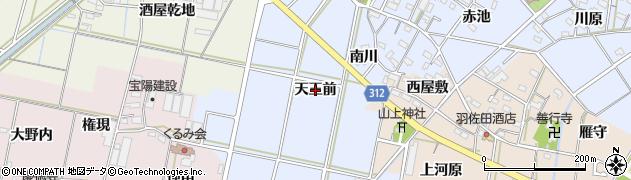 愛知県西尾市平口町(天王前)周辺の地図