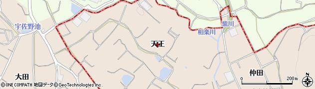 愛知県豊川市御津町赤根(天王)周辺の地図