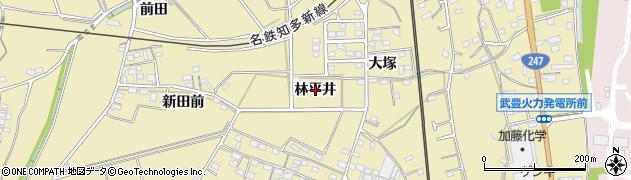 愛知県武豊町(知多郡)冨貴(林平井)周辺の地図