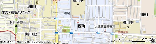 大阪府高槻市西町周辺の地図