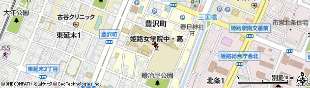 兵庫県姫路市豊沢町周辺の地図