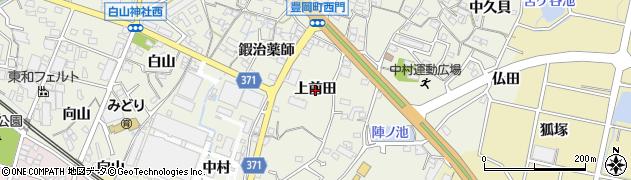 愛知県蒲郡市豊岡町(上前田)周辺の地図