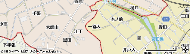 愛知県蒲郡市拾石町(一谷入)周辺の地図