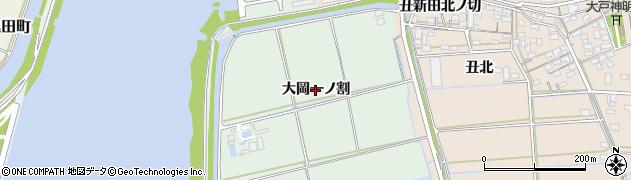 愛知県西尾市一色町細川(大岡一ノ割)周辺の地図