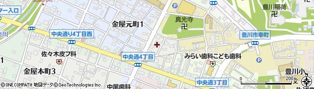 愛知県豊川市末広通周辺の地図