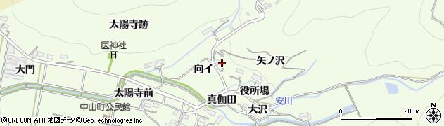 愛知県豊橋市石巻中山町(向イ)周辺の地図