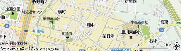 愛知県豊川市牧野町(郷中)周辺の地図