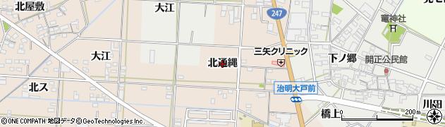 愛知県西尾市一色町治明(北通縄)周辺の地図
