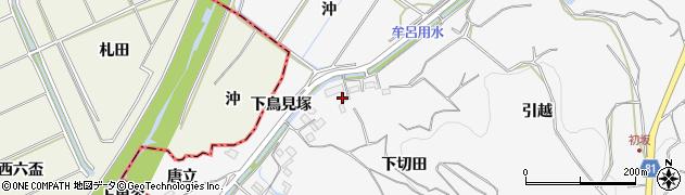 愛知県豊橋市石巻小野田町(下切田)周辺の地図