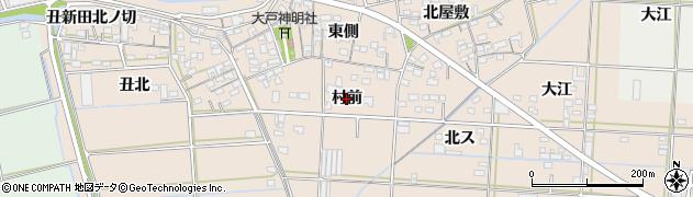 愛知県西尾市一色町治明(村前)周辺の地図