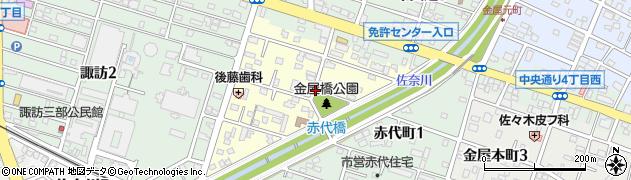 愛知県豊川市金屋橋町周辺の地図