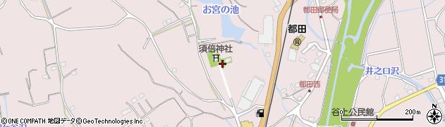 静岡県浜松市北区都田町周辺の地図