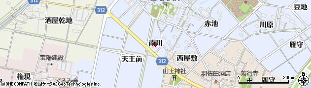 愛知県西尾市平口町(南川)周辺の地図