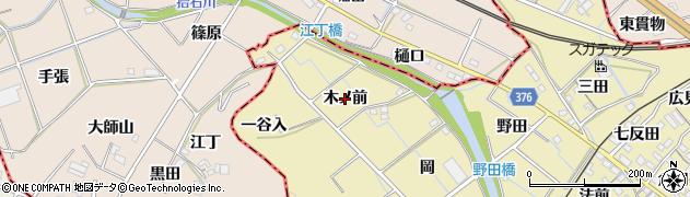 愛知県蒲郡市拾石町(木ノ前)周辺の地図