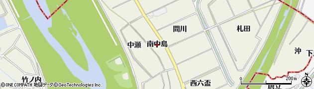 愛知県豊川市三上町(南中島)周辺の地図