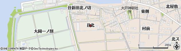 愛知県西尾市一色町治明(丑北)周辺の地図