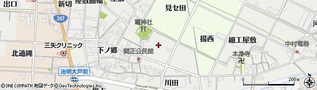 愛知県西尾市一色町開正(荒神坪)周辺の地図