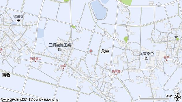 〒675-0347 兵庫県加古川市志方町永室の地図