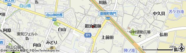 愛知県蒲郡市豊岡町(鍜治薬師)周辺の地図